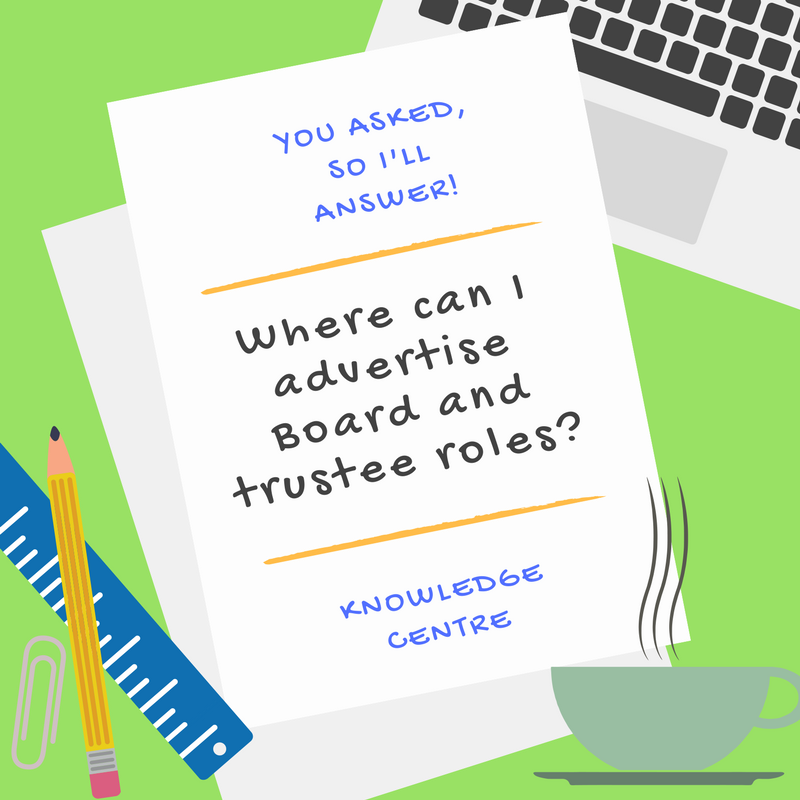 Image - Where can I advertise Board and trustee roles?